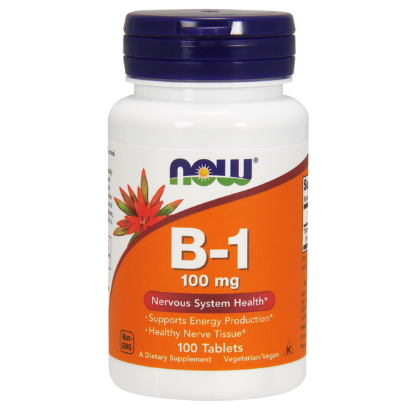 Now Foods Vitamin B-1 100 mg - 100 Tablets - Health As It Ought to Be