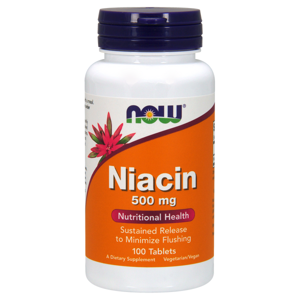 Now Foods Niacin Sustained Release 500 mg - 100 Tablets - Health As It Ought to Be
