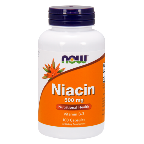 Now Foods Niacin 500 mg - 100 Capsules - Health As It Ought to Be