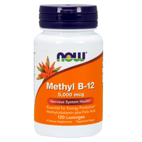 Now Foods Methyl-B12 5000 mcg - 120 Lozenges - Health As It Ought to Be