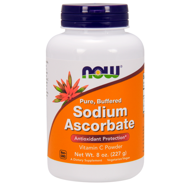 Now Foods Sodium Ascorbate - 8 oz Powder - Health As It Ought to Be