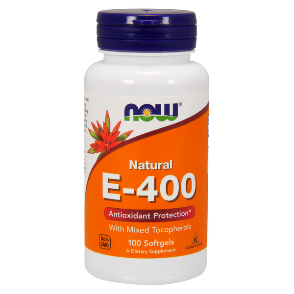 Now Foods Vitamin E 400 IU With Mixed Tocopherols - 100 Softgels - Health As It Ought to Be
