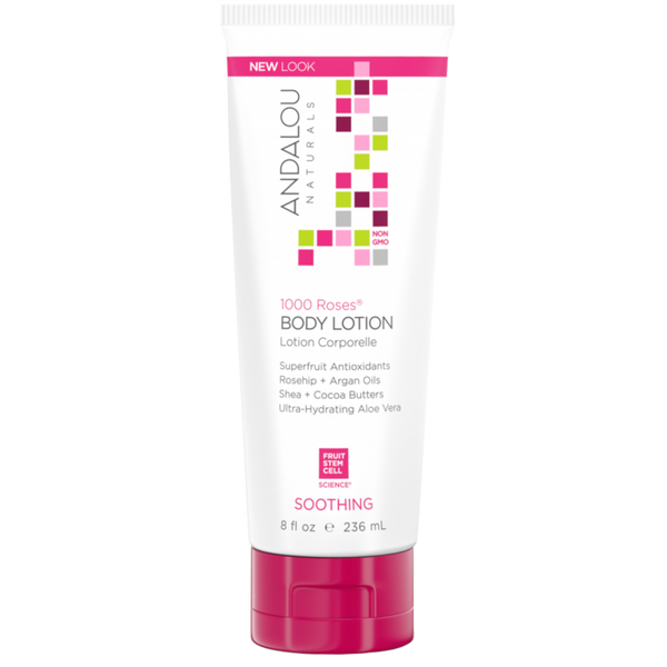 Andalou Naturals 1000 Roses® Soothing Body Lotion - 8 fl oz. - Health As It Ought to Be