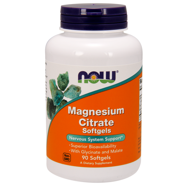 Now Foods Magnesium Citrate 400 mg - 90 Softgels - Health As It Ought to Be