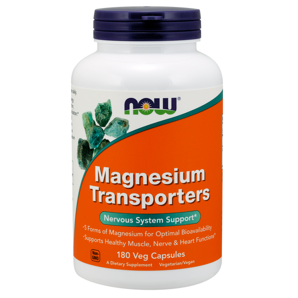 Now Foods Magnesium Transporters - 180 Veg Capsules - Health As It Ought to Be