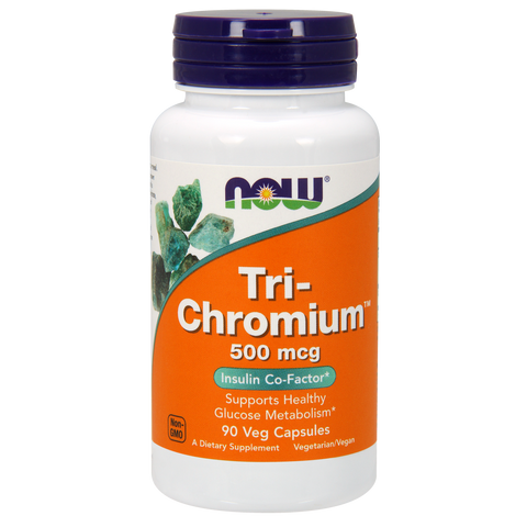 Now Foods Tri-Chromium with Cinnamon 500 mcg - 90 Veg Capsules - Health As It Ought to Be