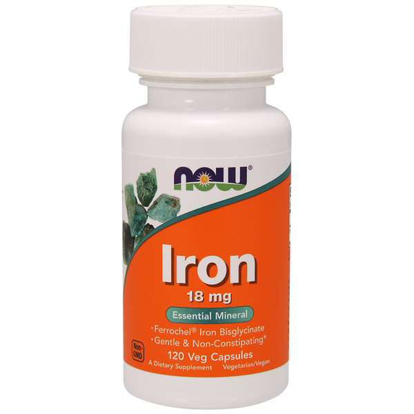 Now Foods Iron 18 mg - 120 Veg Capsules