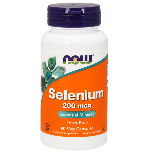 Now Foods Selenium 200 mcg - 90 Veg Capsules - Health As It Ought to Be