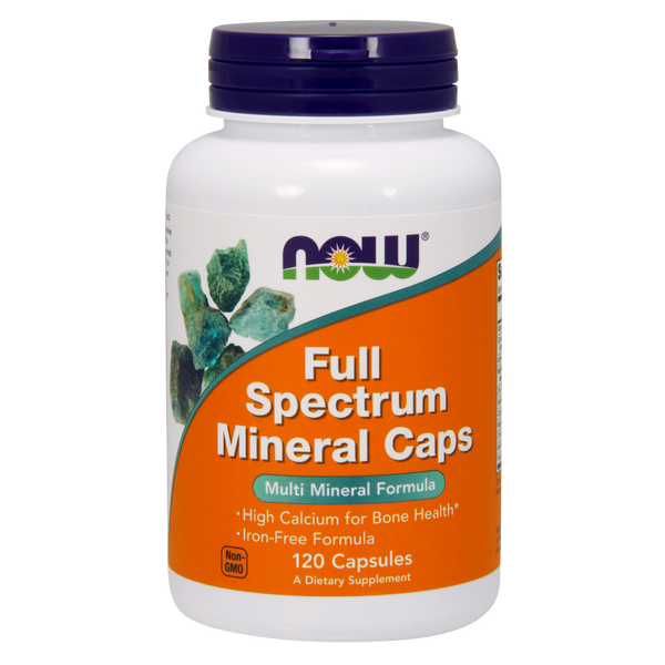 Now Foods Full Spectrum Mineral Caps - 120 Capsules - Health As It Ought to Be