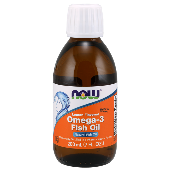 Now Foods Omega-3 Fish Oil Liquid - 200 ml - Health As It Ought to Be