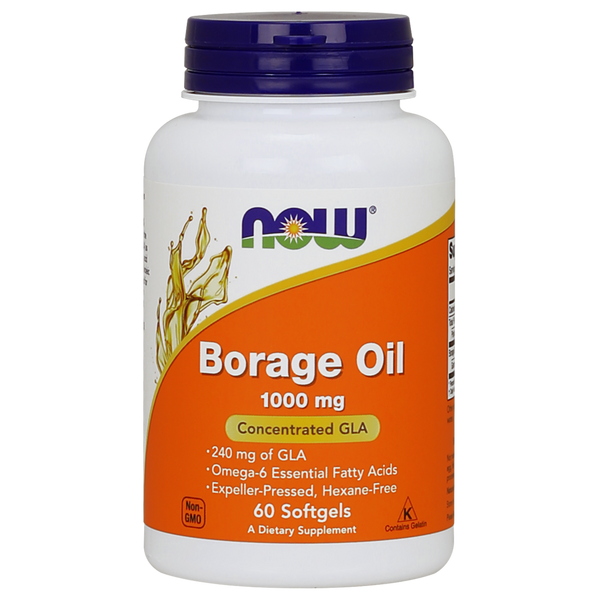 Now Foods Borage Oil 1000 mg - 60 Softgels