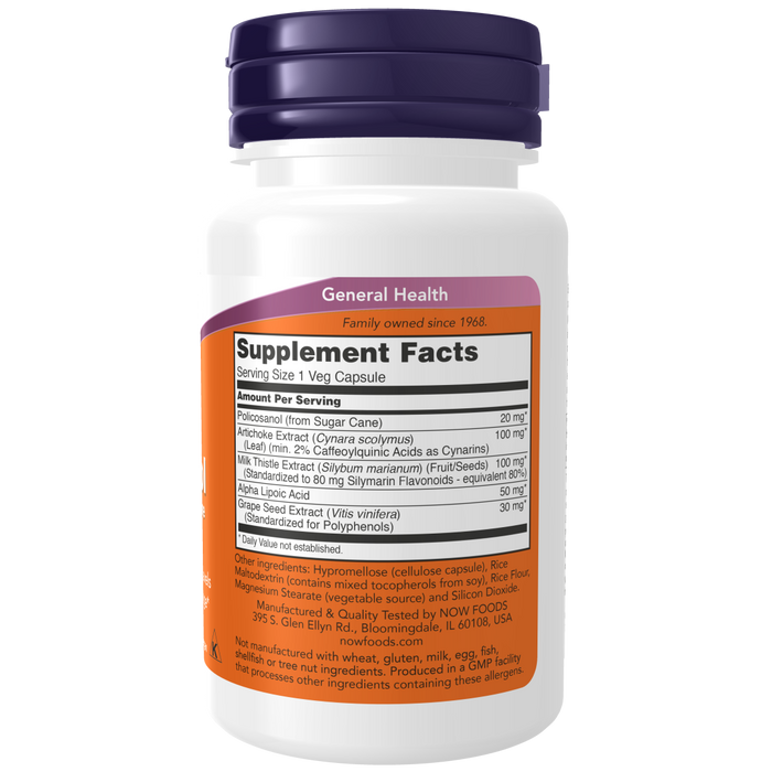 Now Foods Policosanol, Double Strength 20 mg - 90 Veg Capsules