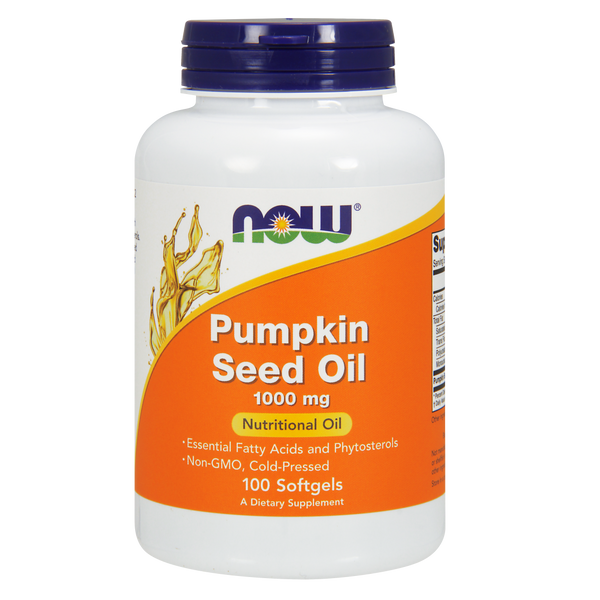 Now Foods Pumpkin Seed Oil 1000 mg - 100  Softgels - Health As It Ought to Be