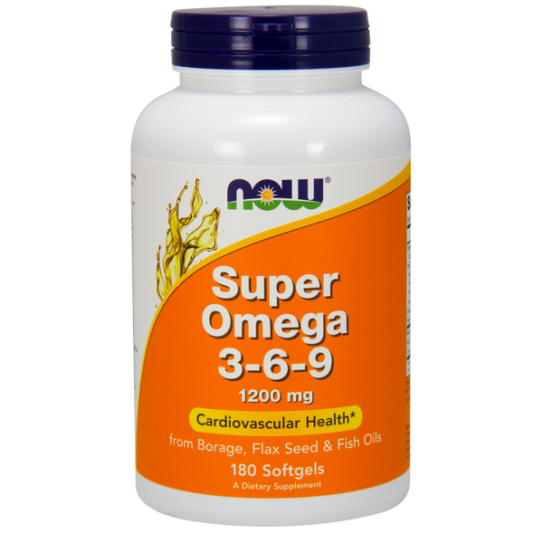 Now Foods Super Omega 3-6-9 1200 mg - 180 Softgels - Health As It Ought to Be