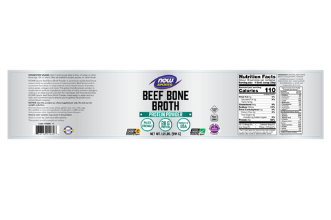 Now Foods Beef Bone Broth Powder - 1 lb - Health As It Ought to Be