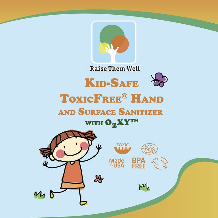 Raise Them Well 3-Pack, Kid-Safe, Certified ToxicFree® Hand and Surface Sanitizer - Health As It Ought to Be
