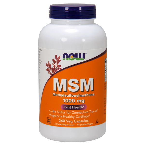 Now Foods MSM 1000 mg - 240 Veg Capsules - Health As It Ought to Be