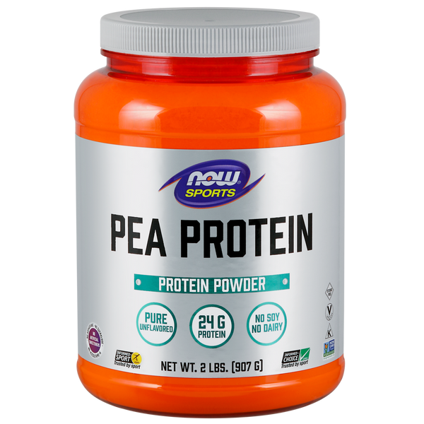 Now Foods Pea Protein Natural Unflavored, Vegan - 2 lbs (907 g) - Health As It Ought to Be