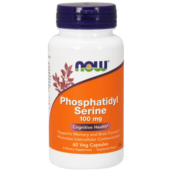 Now Foods Phosphatidyl Serine 100 mg - 60 Veg Capsules - Health As It Ought to Be