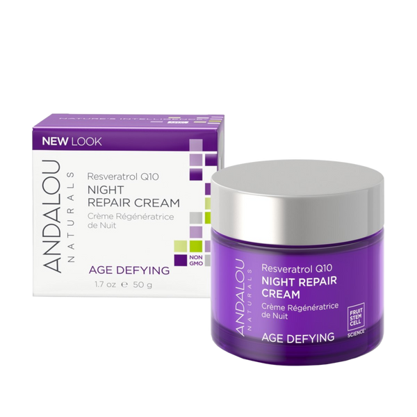 Andalou Naturals Resveratrol Q10 Night Repair Cream - 1.7 oz. - Health As It Ought to Be