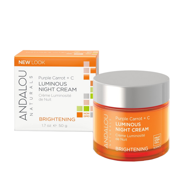 Andalou Naturals Purple Carrot + C Luminous Night Cream - 1.7 oz. - Health As It Ought to Be
