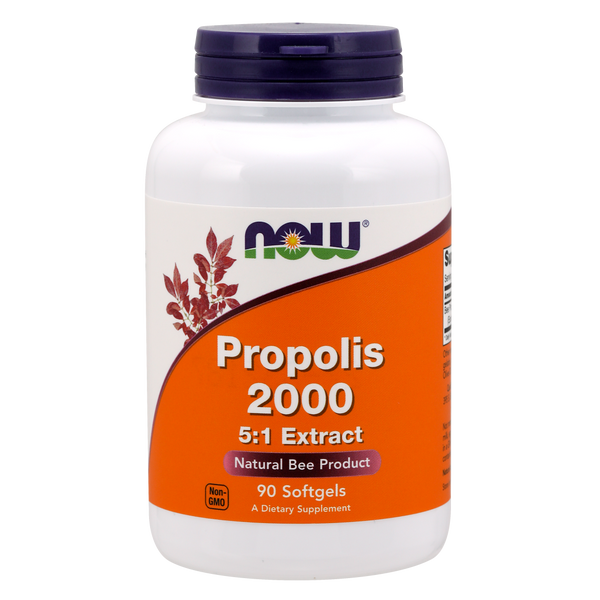 Now Foods Propolis 2000 5:1 Extract - 90 Softgels - Health As It Ought to Be