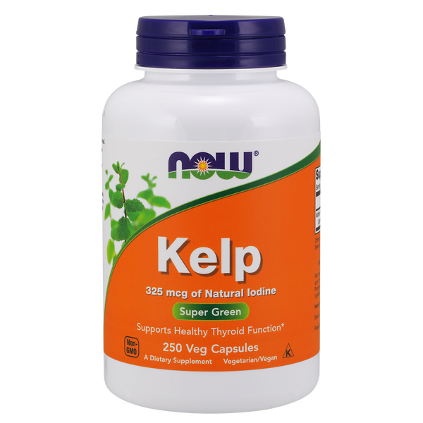 Now Foods Kelp Caps 325 mcg - 250 Capsules - Health As It Ought to Be