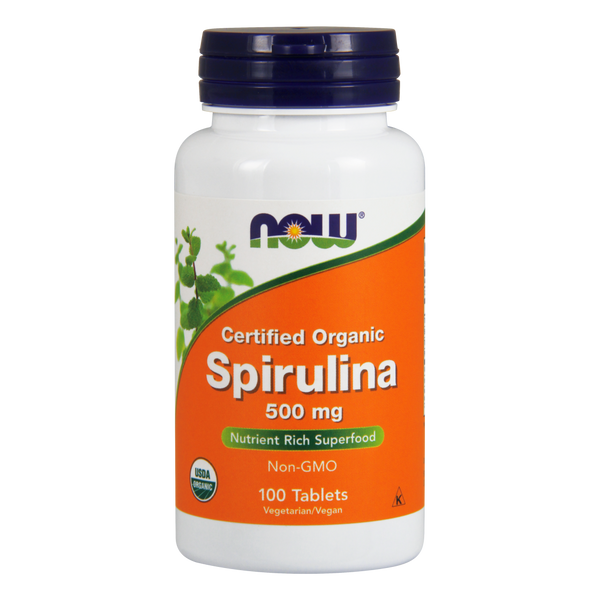 Now Foods Spirulina Organic 500 mg - 100 Tablets - Health As It Ought to Be