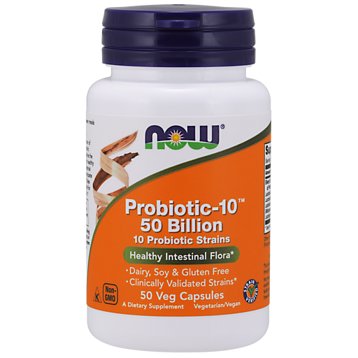 Now Foods Probiotic-10™ 50 Billion - 50 Veg Capsules - Health As It Ought to Be