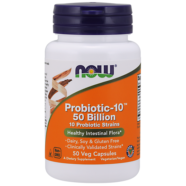 Now Foods Probiotic-10™ 50 Billion - 50 Veg Capsules