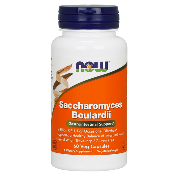 Now Foods Saccharomyces Boulardii - 60  Veg Capsules - Health As It Ought to Be