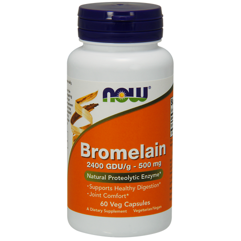 Now Foods Bromelain 2400 GDU/g 500 mg - 60 Veg Capsules - Health As It Ought to Be