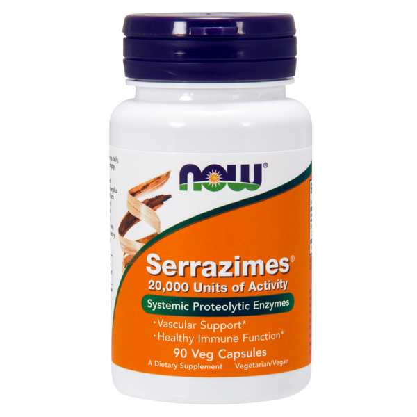 Now Foods Serrazimes® 20,000 Units - 90 Veg Capsules