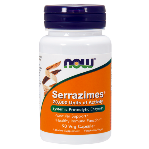 Now Foods Serrazimes® 20,000 Units - 90 Veg Capsules - Health As It Ought to Be
