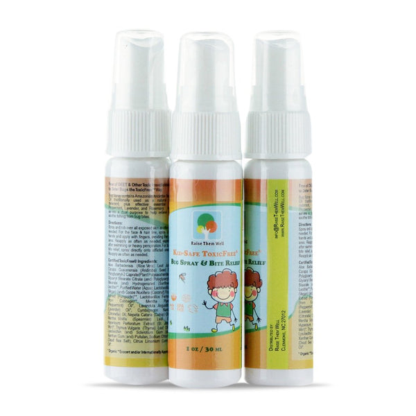 Raise Them Well Kid-Safe ToxicFree® 3 pack Bug Spray and Bite Relief