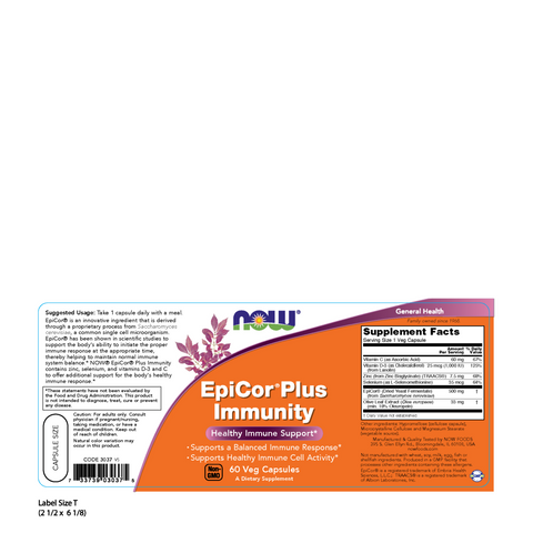Now Foods EpiCor Plus Immunity - 60 Veg Capsules - Health As It Ought to Be