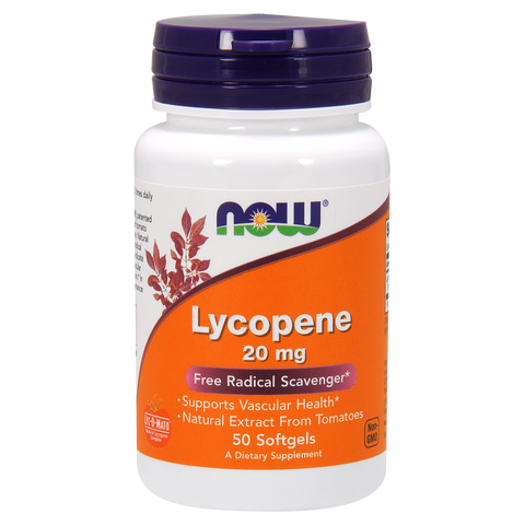 Now Foods Lycopene 20 mg - 50 Softgels - Health As It Ought to Be
