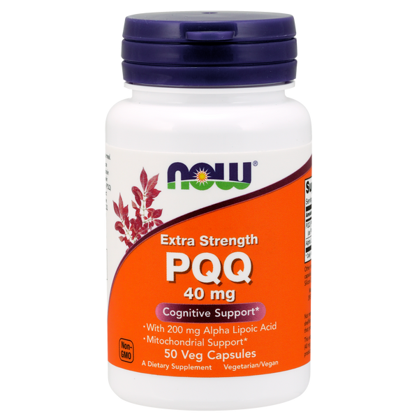 Now Foods PQQ 40 mg Extra Strength - 50 veg Capsules - Health As It Ought to Be
