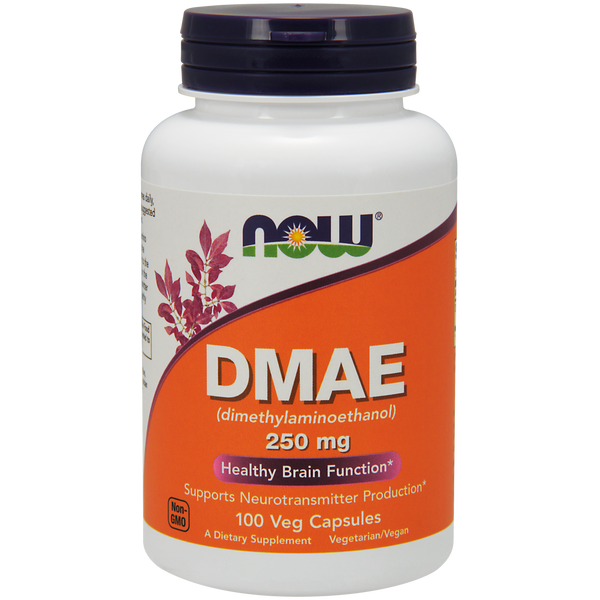 Now Foods DMAE 250 mg - 100 Veg Capsules - Health As It Ought to Be