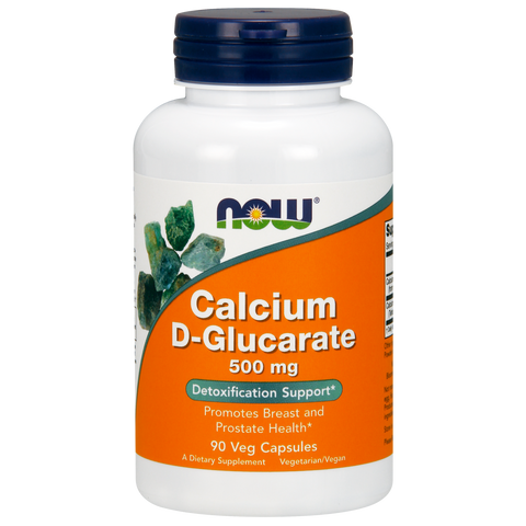 Now Foods Calcium D-Glucarate 500 mg - 90 Veg Capsules - Health As It Ought to Be