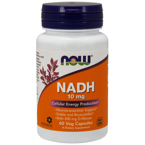 Now Foods NADH 10 mg - 60 Veg Capsules - Health As It Ought to Be