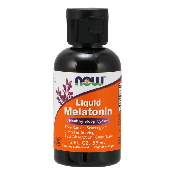 Now Foods Liquid Melatonin 3 mg - 2 fl oz. - Health As It Ought to Be