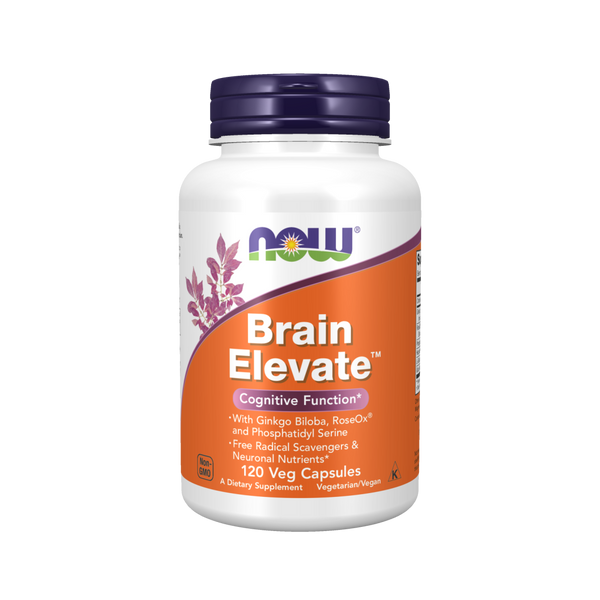 Now Foods  Brain Elevate™ - 120 Veg Capsules - Health As It Ought to Be