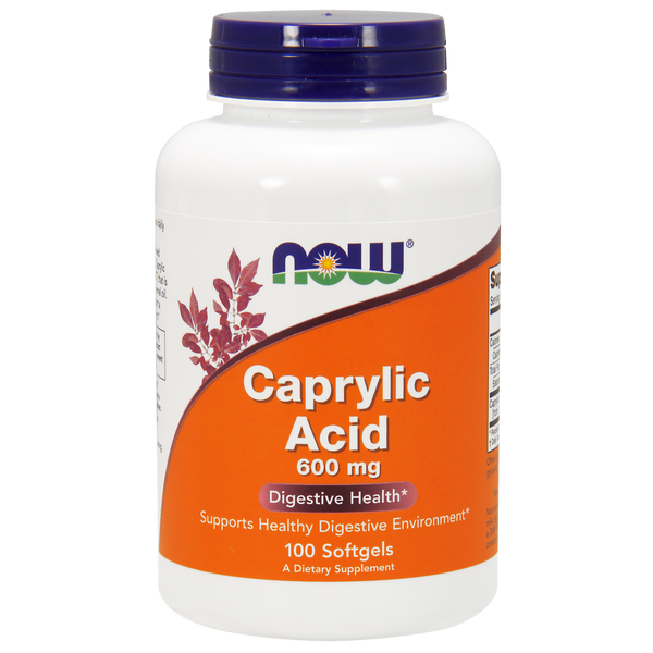 Now Foods Caprylic Acid 600 mg - 100 Softgels - Health As It Ought to Be
