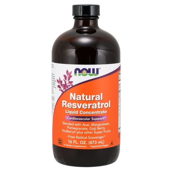 Now Foods Natural Resveratrol, Liquid Concentrate - 16 oz. - Health As It Ought to Be
