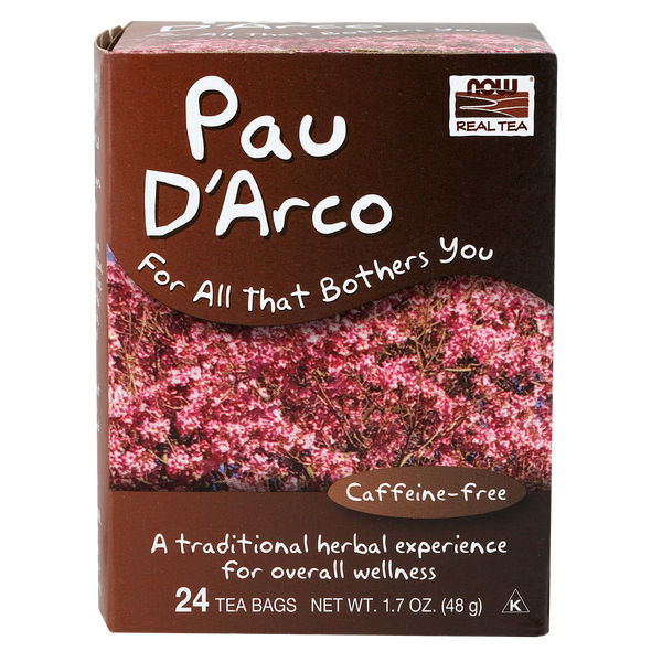 Now Foods Pau D'Arco Tea - 24 Tea Bags - Health As It Ought to Be