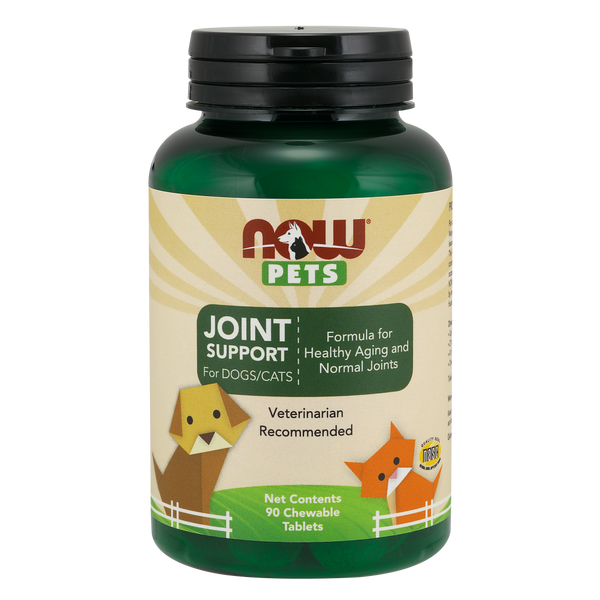 Now Foods Pet Joint Support for DOGS/CATS - 90 Chewable Tablets