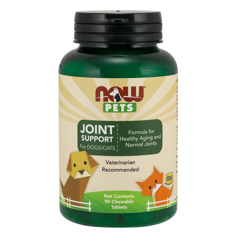 Now Foods Pet Joint Support for DOGS/CATS - 90 Chewable Tablets - Health As It Ought to Be