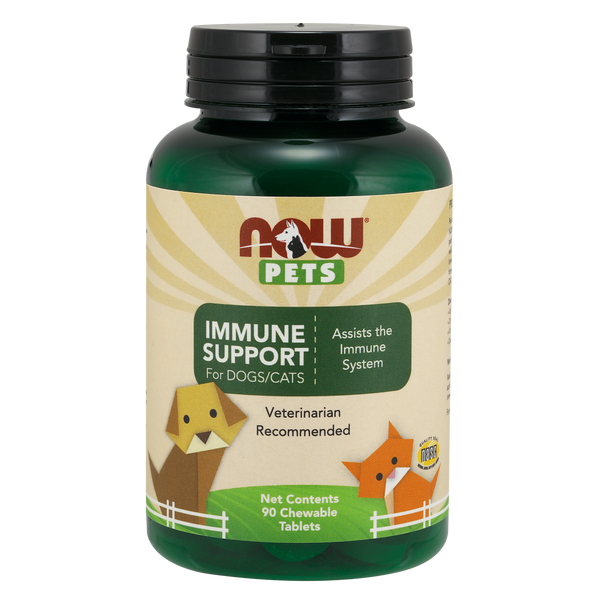 Now Foods Pet Immune Support for DOGS/CATS - 90 Chewable Tablets - Health As It Ought to Be