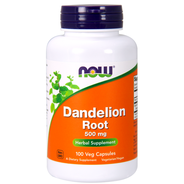 Now Foods Dandelion Root 500 mg - 100 Vegetarian Capsules - Health As It Ought to Be